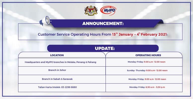 Operation Hour Until 4 Feb